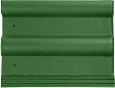 Пазовая черепица (зеленая)